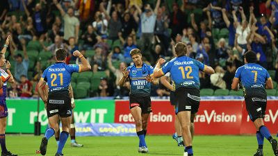 Force celebrate Waratahs win