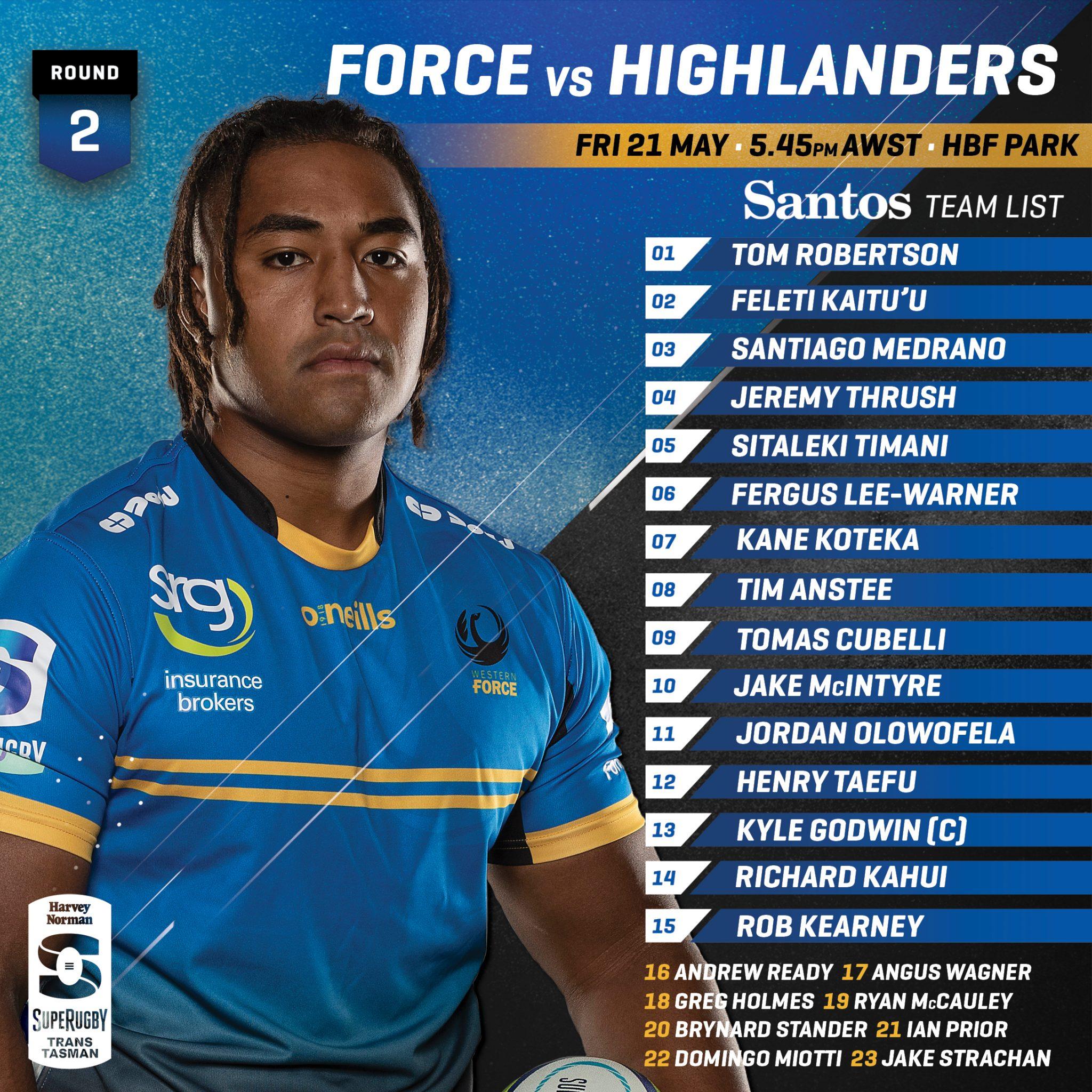 Force v Highlanders