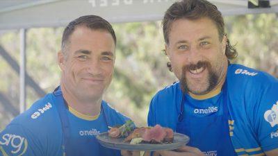 Richard Kahui and Jeremy Thrush for Harvey Beef
